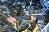 Russian police weapons — Stock Photo