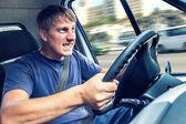 Kötü kamyon şoförü — Stok fotoğraf