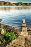Little river dock — Stock Photo