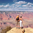 Stock Photo: Couple Enjoying Beautiful Grand Canyon Landscape
