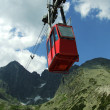 Stock Photo: Red cable railway