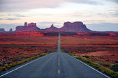 Monument Valley Route — Stock Photo