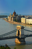 Budapest skyline — Stock Photo