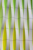 Detail of a modern facade with curved elements — Stock Photo