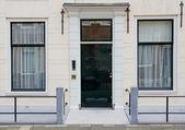 Front door of Dutch town house — Stock Photo