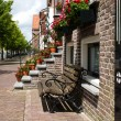 Bench for Dutch canal house — Stock Photo #11489828
