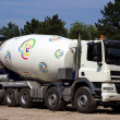 Concrete mixer truck - Stock Photo