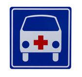 Traffic sign with ambulance — Stock Photo