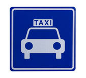 Road sign indicating a taxicab stand — Stock Photo