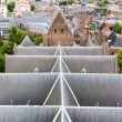Top view on the slate roof of a church - Stock Photo