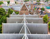 Top view on the slate roof of a church — Stock Photo