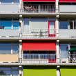 Several balconies of a building — Stock Photo