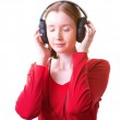 Young woman in headphones — Stock Photo #11417769