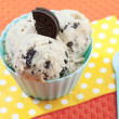 Stock Photo: Big scoops of cookies and cream ice cream