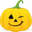 Halloween jackolanten winking — Stock Photo