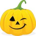 Halloween jackolanten winking — Stock Photo