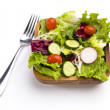 Ready to eat salad — Stock Photo