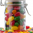 Jelly bean jar — Stock Photo