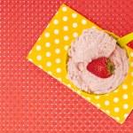 Top view strawberry ice cream — Stock Photo #11374566