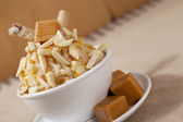 Caramel almond ice cream — Stock Photo