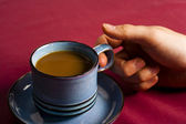 Holding coffee — Stockfoto