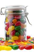Jelly bean jar — Stock Photo