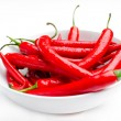 Moist Red Peppers in a Bowl — Stock Photo