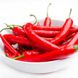Stock Photo: Moist Red Peppers in a Bowl