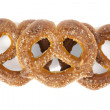 Sugar coated knot shape pretzel — Stock Photo