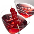Cocktail cherries drink — Stock Photo