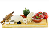 Complete set of ingredients for home made pizza — Стоковое фото