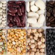 Assorted beans and peas — Stock Photo