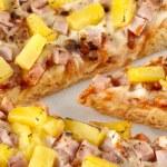 Close up image of hawaiian pizza — Stock Photo #12195275