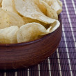 Cropped bowl of chips - Stock Photo