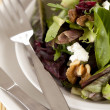 Cropped image of plate with salad — Foto de stock #12195315