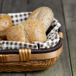 Cropped image of assorted bread in basket — Stock Photo #12195324