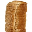 Stock Photo: Loaf of bread on white