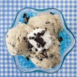 Overhead shot of a cookies and cream ice cream — Foto Stock