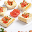 Stock Photo: Plate of tomato bruschetta