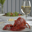 Stewed lobster — Stock Photo