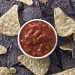 Stock Photo: Nachos and salsa