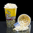 Two bucket of popcorn with tickets — Stock Photo #12195871