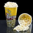Two cups of popcorn — Stock Photo