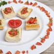 Tomato bruschetta — Stock Photo