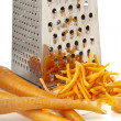 Rub carrots and grater — Stock Photo #12196201