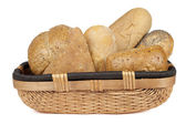 Assorted bread basket — Stock Photo