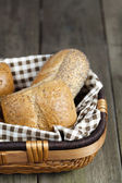 Assorted bread in basket — Stock Photo
