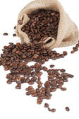 A sack of coffee beans — Stock Photo