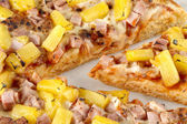 Close up image of hawaiian pizza — Stock Photo