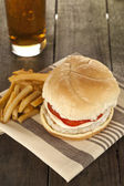 Low fat burger fries and soda — Stock Photo